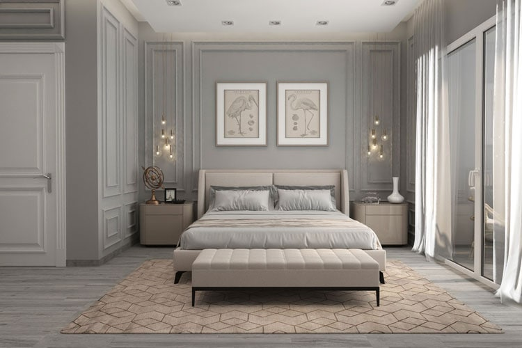 Transitional Master Bedroom Interior Design