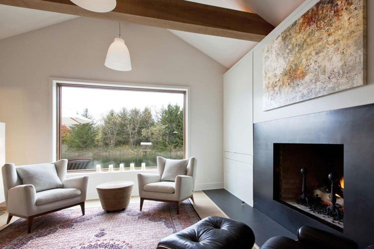 Small Scandinavian Cabin Interior Design