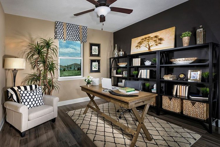 Black Office Room Layout