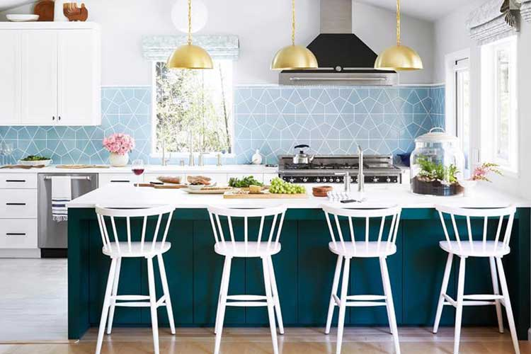 Classic Country Blue Backsplash Tiles
