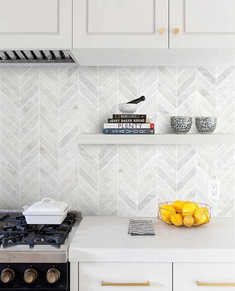 Classy Kitchen Countertop and Backsplash
