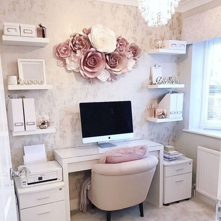 Cute Girly Small Home Office