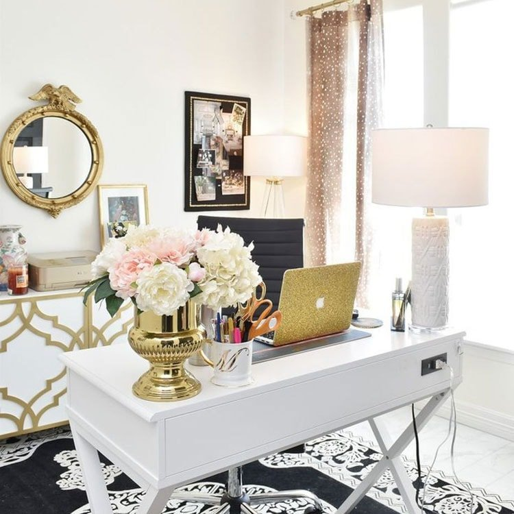 Cute and Chic Home Office Space For Her