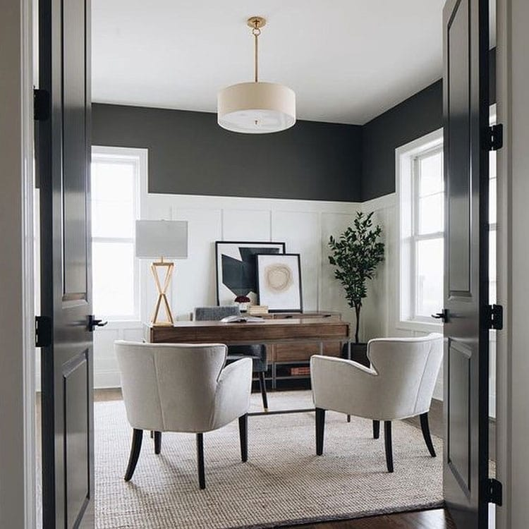 Formal Office Space with Simple Finishes
