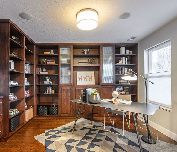 Metal and Wood Office Design Ideas