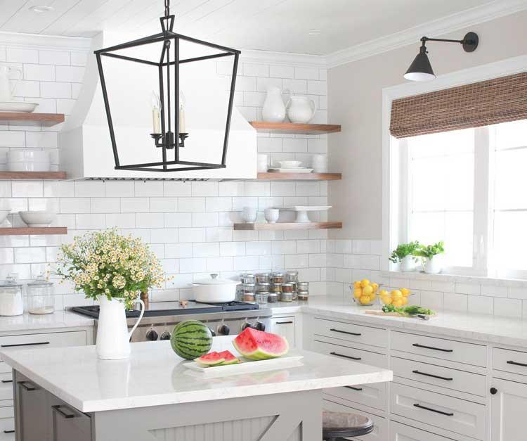 Modern Country Home Kitchen Backsplash