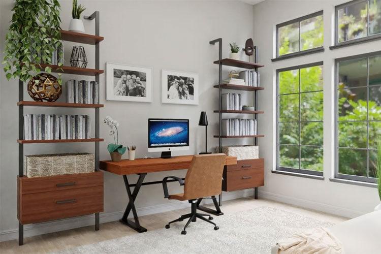 Cool Modern Office Setup in Bedroom