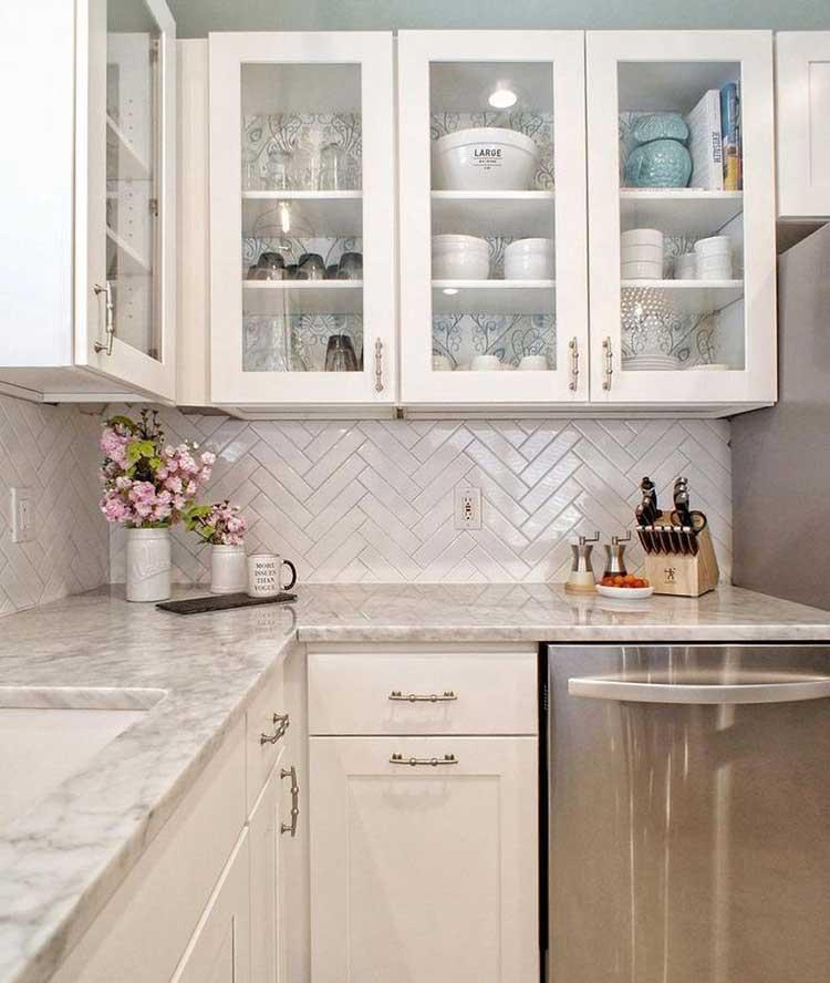 Patterned Tile Backsplash For Kitchen