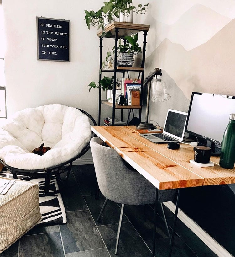 Rustic Industrial Office Style with Cool Furniture
