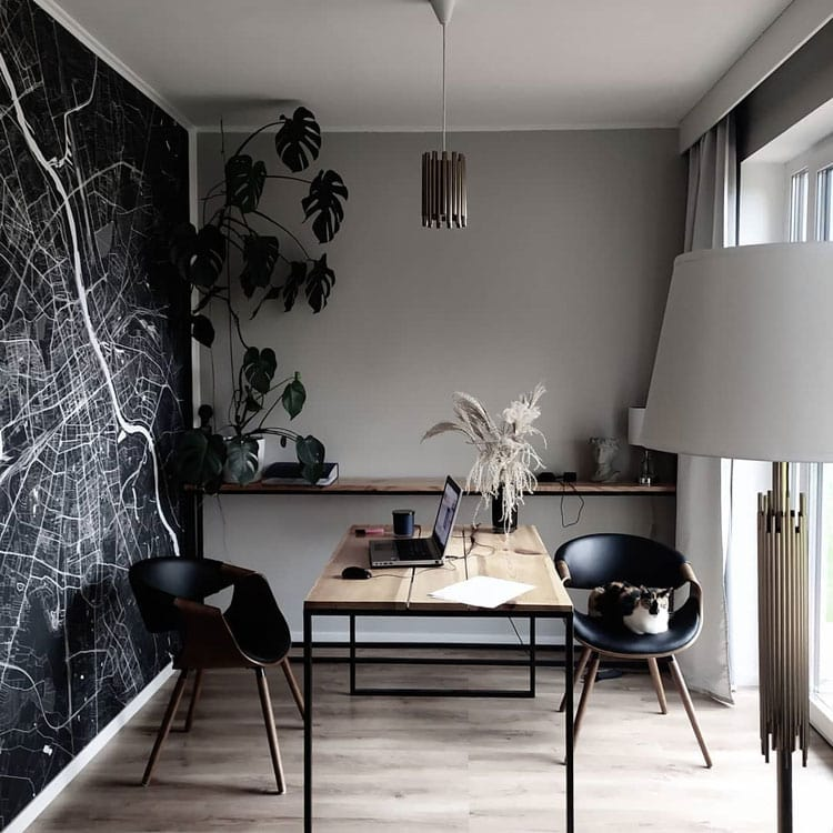 Small Office Area with Edgy Vibe