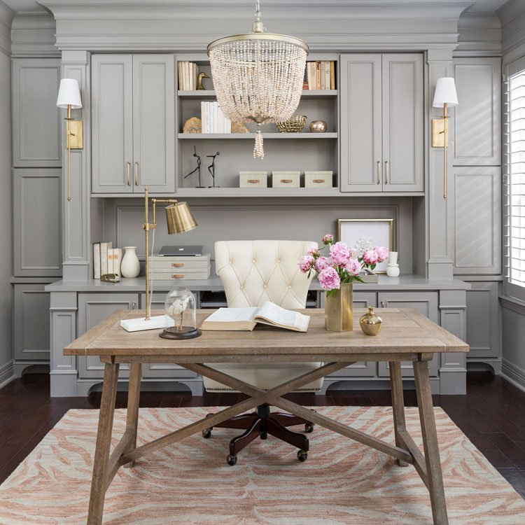 Stylish Home Office Room with Unique Style