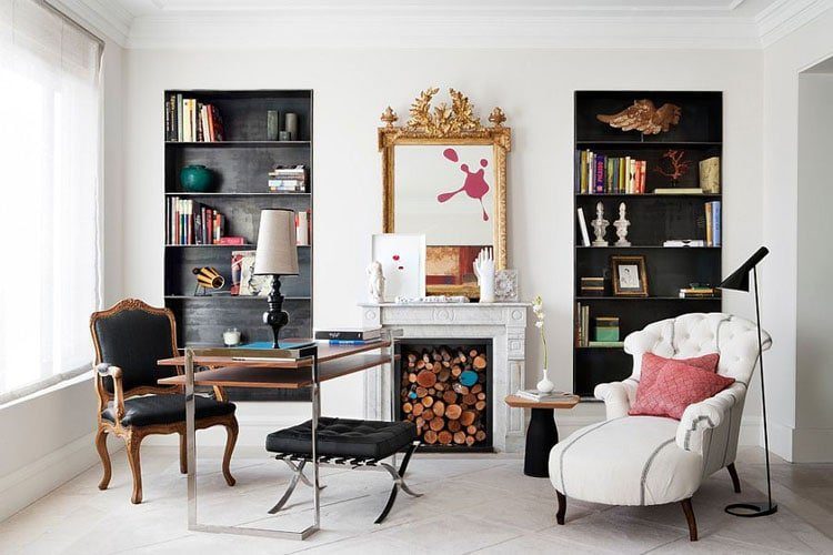 Transform A Formal Living Room Into A Funky Office