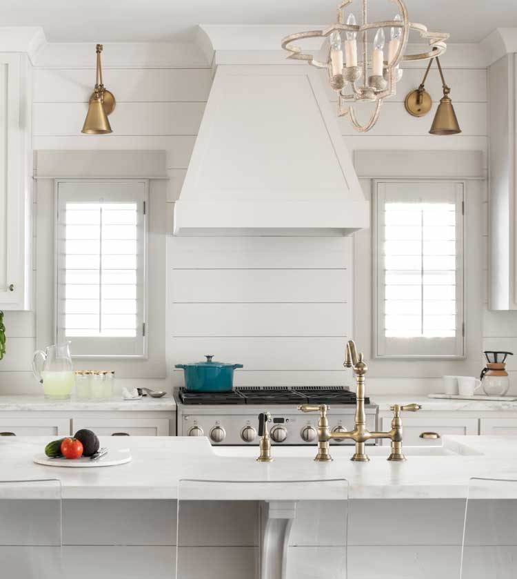 White Modern Farmhouse Style Kitchen Backsplash