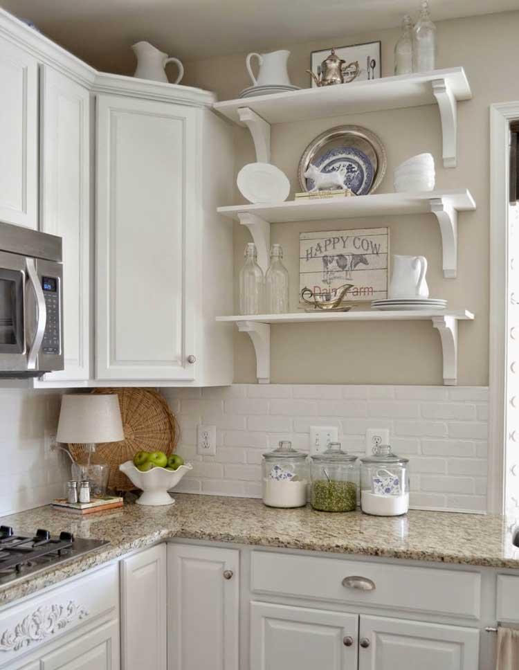 White Tiles Kitchen Backsplash
