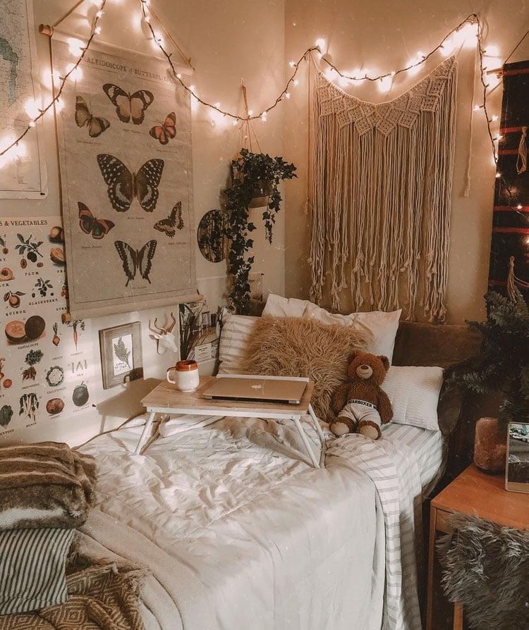Boho Chic Dorm Room Lighting Decor