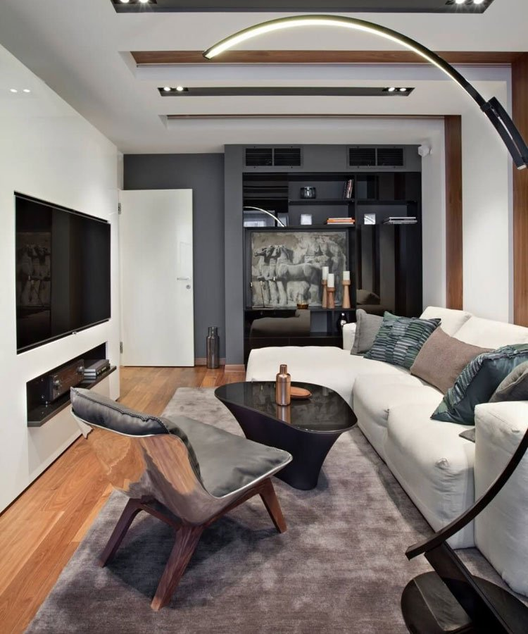Bachelor Pad with Cool Light Fixtures