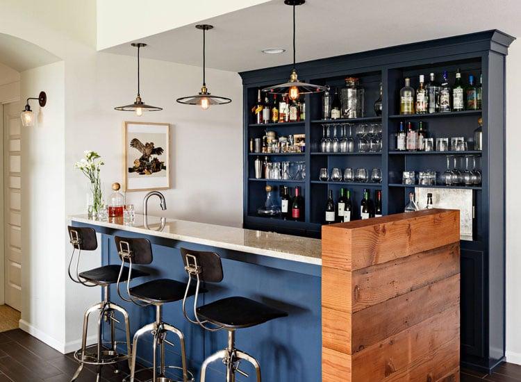 Masculine Home Bar Area