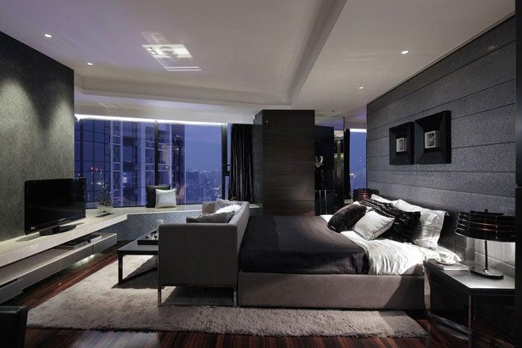 Modern Bachelor Pad Bedroom